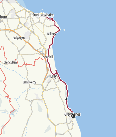 Map / Greystones to Dun Laoghaire