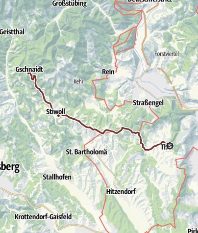 Karte / 1. Etappe: Jakobsweg Weststeiermark
