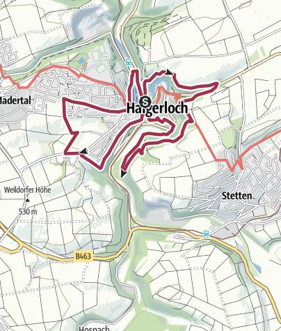 Karte / Römerturm-Rundweg ums historische Haigerloch