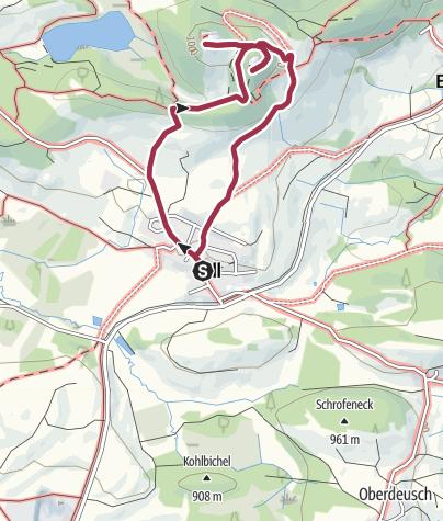 Karte / Zu den Ruinen Hohen-Freyberg und Eisenberg