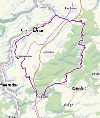 Karte / Sulz - Von Sulz ins Zimmerner Tal
