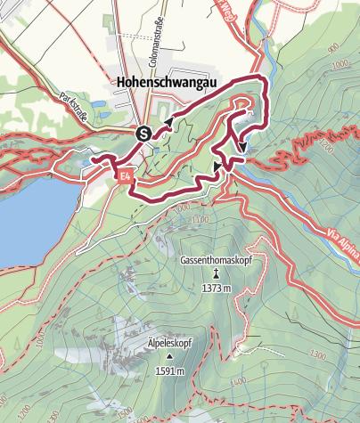 Wanderwege Deutschland Karte.Pöllatschlucht Schloss Neuschwanstein Und Schloss Hohenschwangau