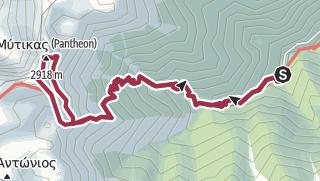 Mapa / Prionia - Mytikas - Prionia