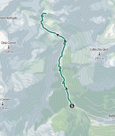 Karte / Rifugio Dorigoni - Lago Sternai