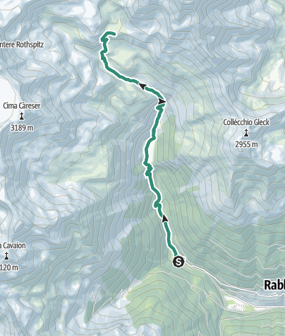 Cartina / Rifugio Dorigoni - Lago Sternai