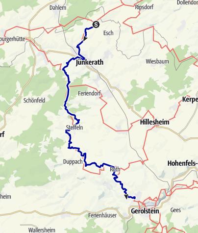 Karte / Vulkaneifel-Pfad: Vulkan-Pfad (2-Tages-Tour) (Jünkerath - Steffeln - Gerolstein)