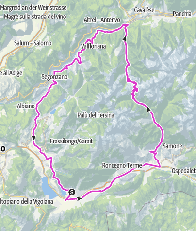 Map / Passo Manghen by way of Val Calamento