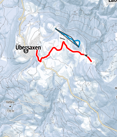 Map / At Übersaxner Gulm – An Alp Trail for Winter Lovers
