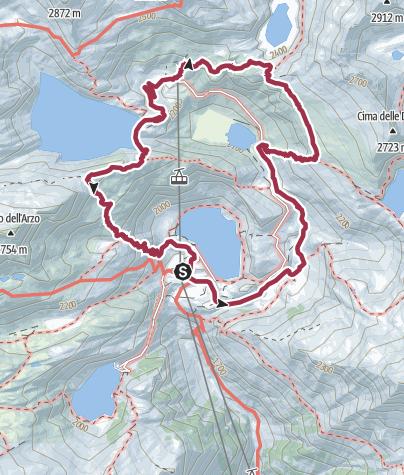 Karte / Rund um den Lago di Robiei