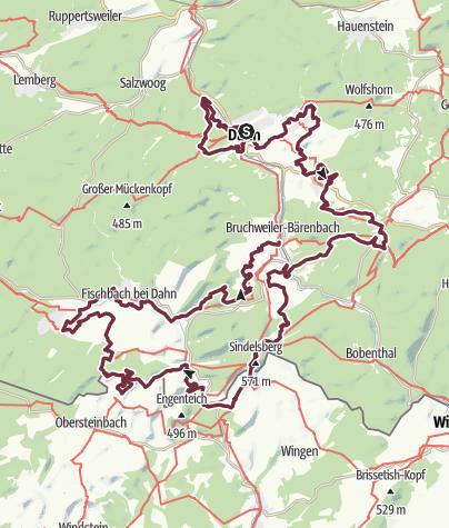 Kaart / Felsenland Sagenweg