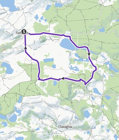 Map / Fortunies-TLP (Tour du lac du pécher) MEDIUM