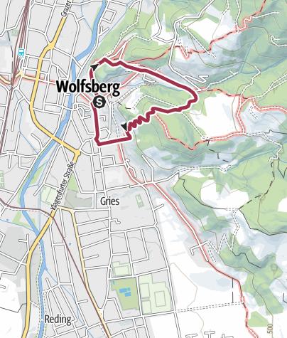 Karte /  Wolfsberg: Schloßbergrundweg