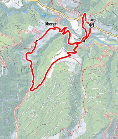 Karte / Liesing - Steineckenalm - Obergail - Liesing