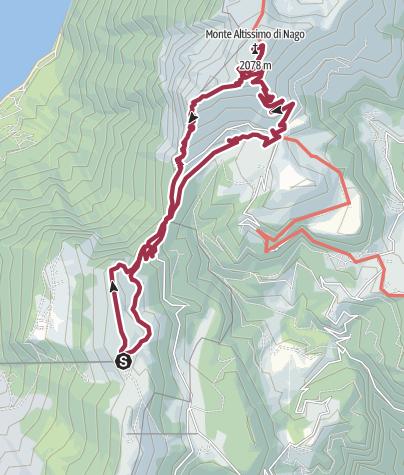 Karte / Bocca Tratto Spino und Monte Altissimo di Nago
