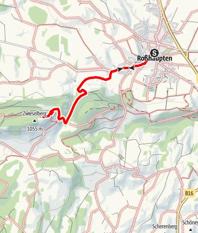 Karte / Aussichtsberg Buch-Zwieselberg