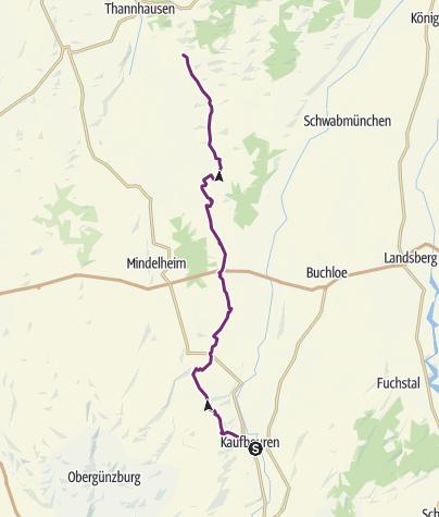 Karte / Zusam-Radweg