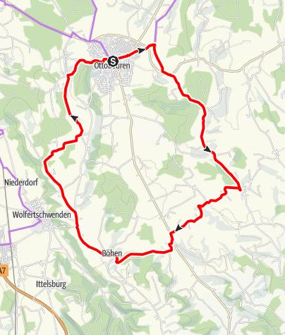 Karte / Ottobeurens Süden