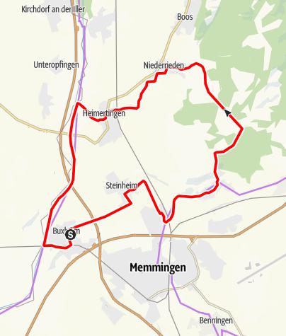 Karte / Feierabendtour Memmingen