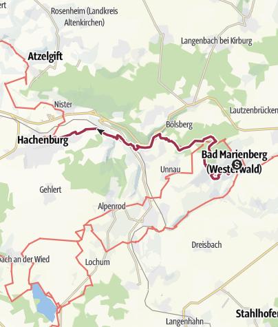 Karte / WesterwaldSteig  08. Etappe Bad Marienberg - Hachenburg (Ost-West)
