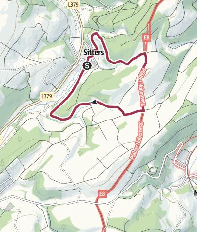 Karte / sittersrunde 4 km