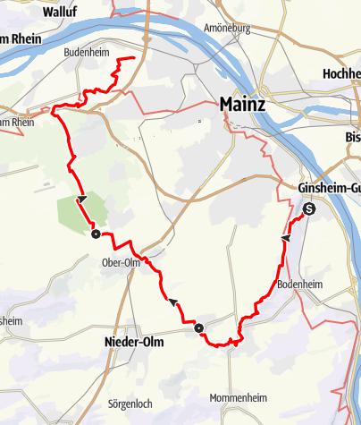Karte / Kleiner Mainzer Höhenweg