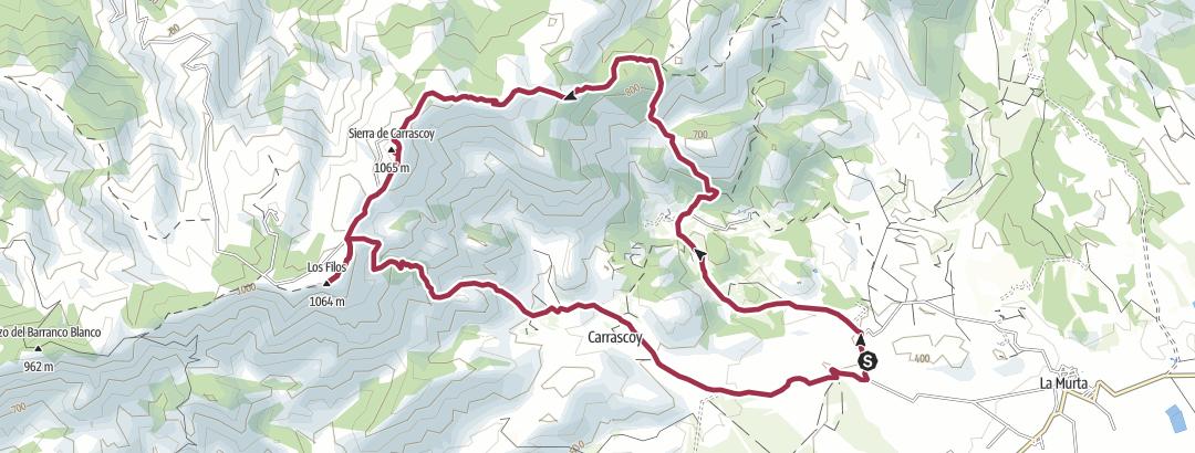 Térkép / LA MURTA-CIMA DE CARRASCOY ( Sª DE CARRASCOY)