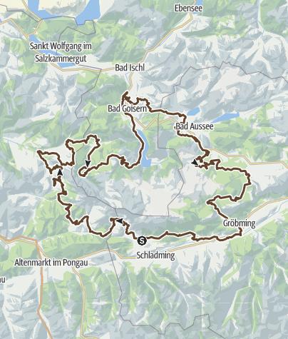 Dachstein Karte.Dachstein Runde Mountainbike Transalp Outdooractive Com
