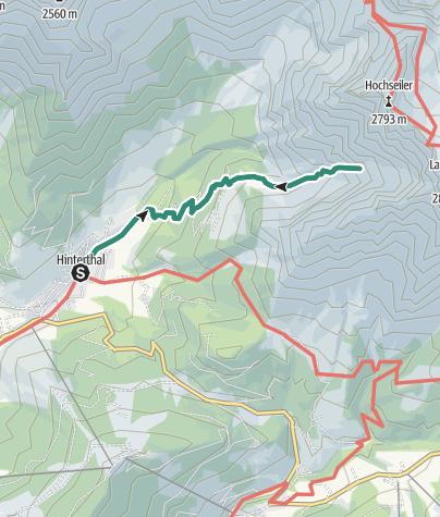 """Karte / Gipfelstürmertour """"Zur Bertgenhütte"""""""