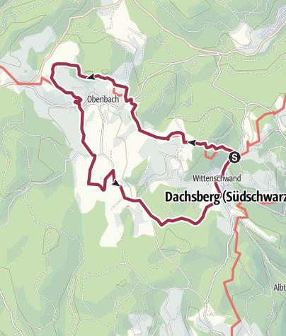 Karte / Dachsberg: Auf dem Schluchtensteig nach Ibach