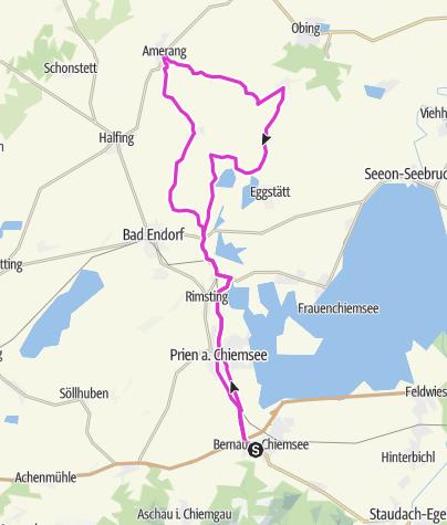 Karte / Amerang Rennradtour