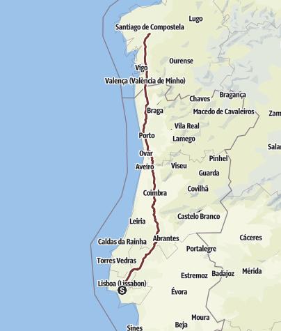 Camino Portugues Karte.Portugiesischer Jakobsweg Pilgerweg Outdooractive Com