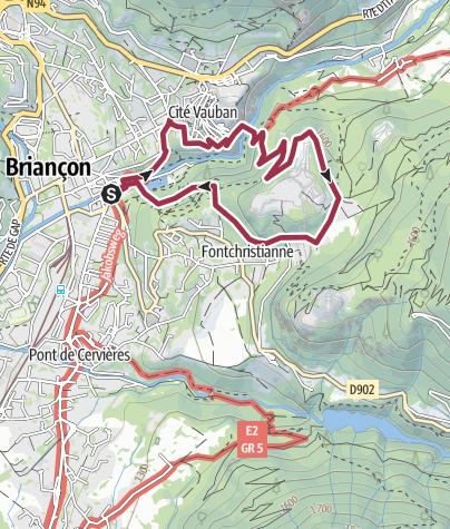 Map / Briançon Le Fort des Têtes