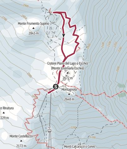 Map / Etna jusqu'à 2900