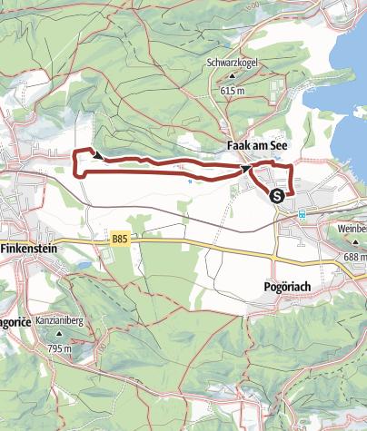 Karte / Familien Wanderung am Faaker See: Themenweg durch das Finkensteiner Moor