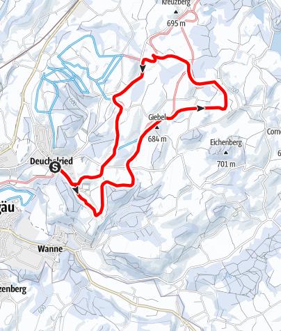 Karte / Laudorf-Loipe mit Erweiterung über Kögelegg