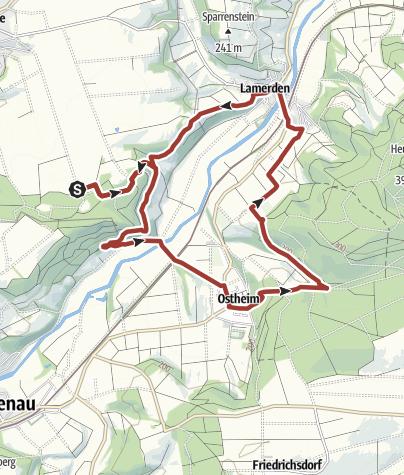 Karte / Erlesene Natur Tourentipp: Eco Pfad Muschelkalk am Schwiemelkopf