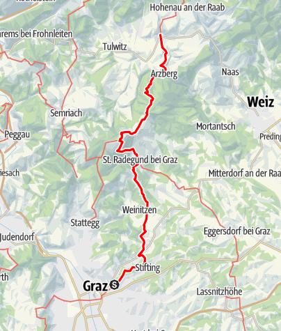 Karte / Mariazeller Weg 6. Tagesetappe