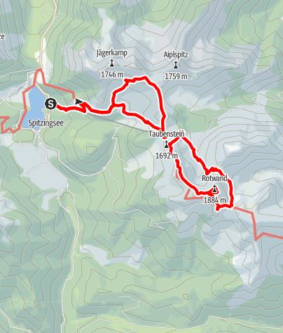 Karte / Spitzingsee - Rauhkopf - Rotwand