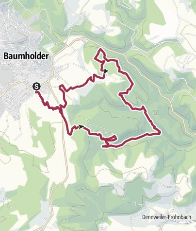 Karte / Baumholder - Traumschleife Bärenbachpfad