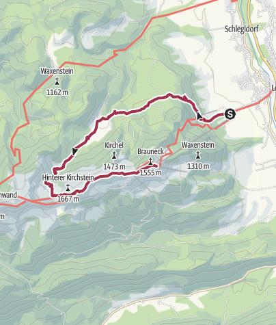 Map / Lenggries - Längental - Latschenkopf - Brauneck