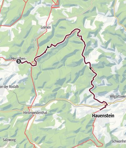 Karte / Pfälzer Waldpfad Etappe 06 Merzalben - Hauenstein