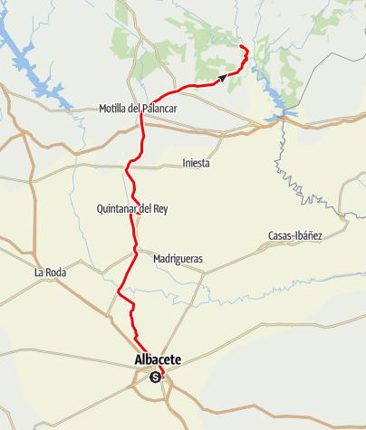 Map / Albacete-Motilla palancar-Enguidanos chorreras