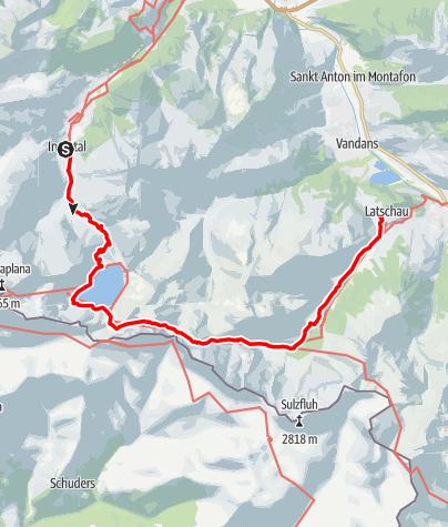 Karte / Vom Lünersee zur Lindauerhütte | Brand - Latschau/Tschagguns