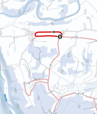 Karte / Loipen über Beerberg und Viehweid (L 1) Anschluss Schwenden