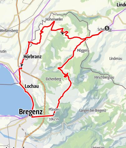 Karte / Radeln bergab