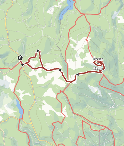 Map / In Goethe's footsteps from Torfhaus to the Brocken summit