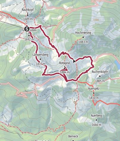 Karte / Auf die Rotwand