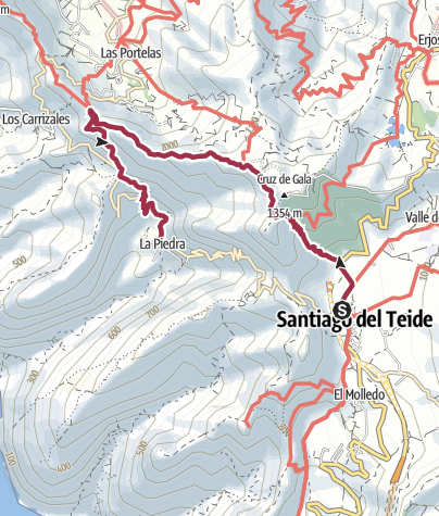 Karte / Von Santiago del Teide nach Masca