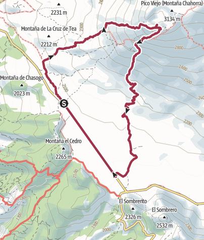 Karte / Auf den Pico Viejo