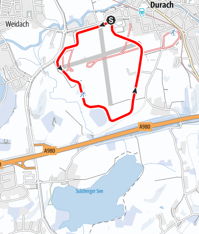 Karte / Flugplatzloipe
